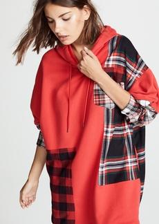 McQ Alexander McQueen McQ - Alexander McQueen Patched Hoodie Dress