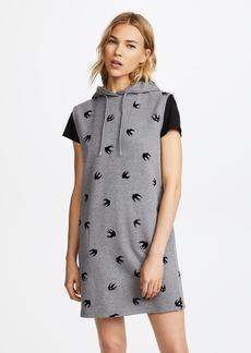 McQ Alexander McQueen McQ - Alexander McQueen Sleeveless Hoodie Dress