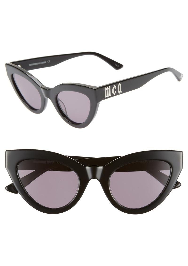 McQ Alexander McQueen 50mm Cat Eye Sunglasses