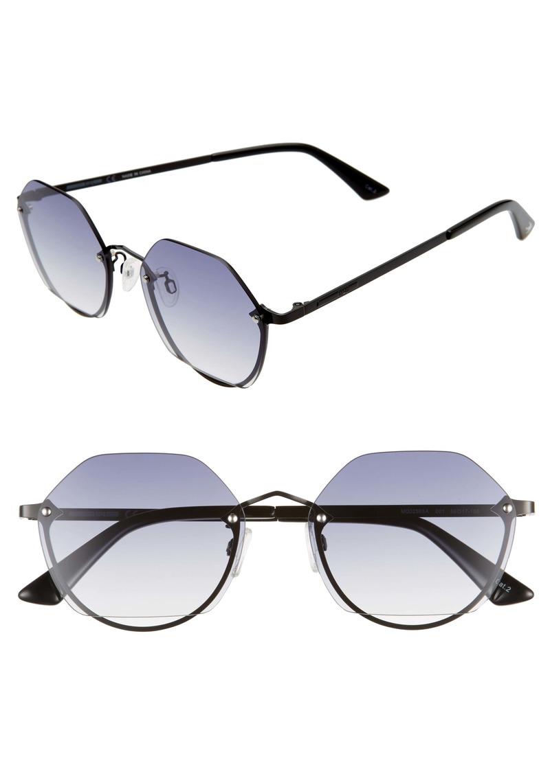 McQ Alexander McQueen 58mm Round Sunglasses