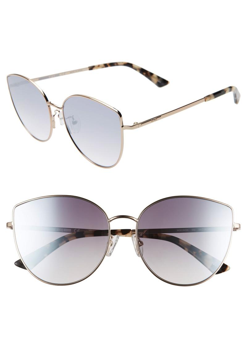 McQ Alexander McQueen 59mm Cat Eye Sunglasses