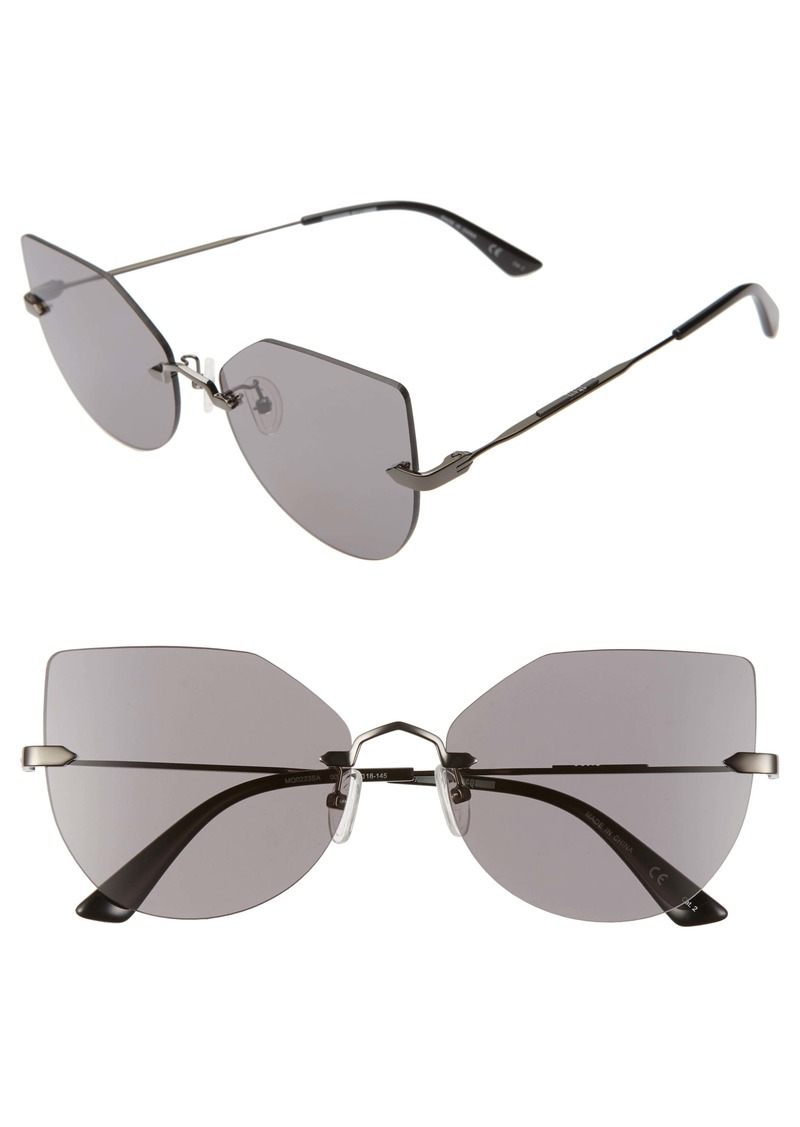 McQ Alexander McQueen 59mm Rimless Cat Eye Sunglasses