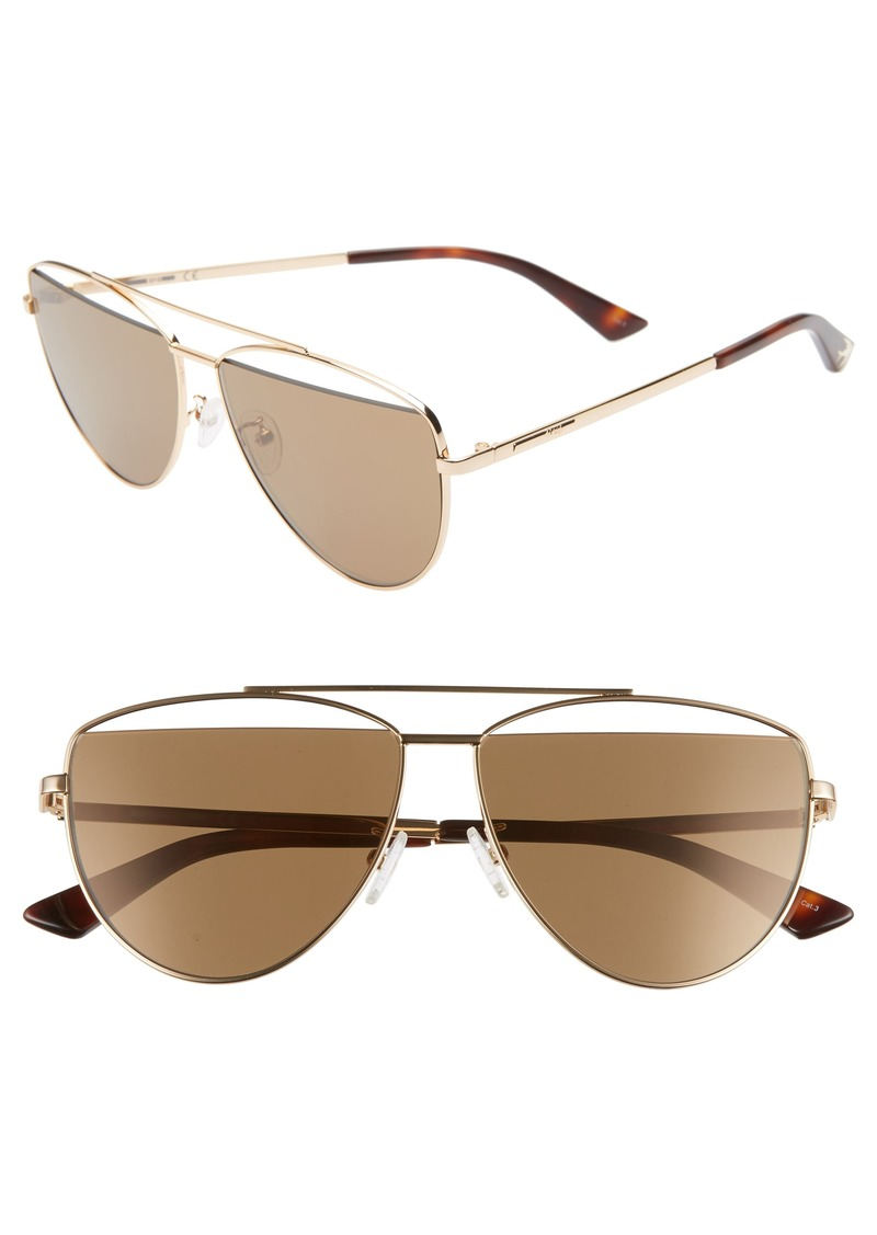 McQ Alexander McQueen 61mm Aviator Sunglasses