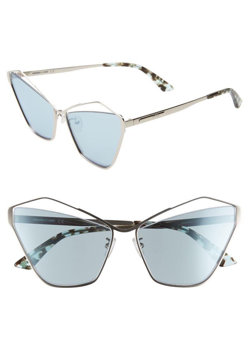 McQ Alexander McQueen 61mm Cutout Cat Eye Sunglasses