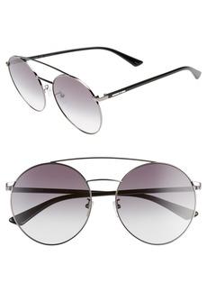 McQ Alexander McQueen 61mm Round Aviator Sunglasses