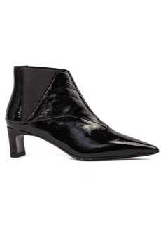McQ Alexander McQueen Black Metta Chelsea Patent Leather Ankle Boot