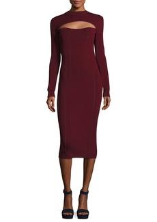 McQ Alexander McQueen Body-Con Long-Sleeve Dress