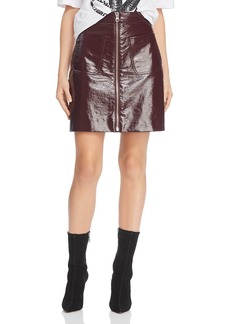 McQ Alexander McQueen Coated Mini Skirt