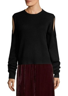 McQ Alexander McQueen Cold-Shoulder Sweater