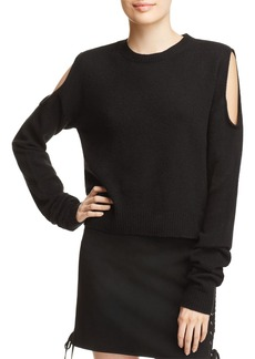 McQ Alexander McQueen Cold Shoulder Sweater