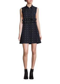 McQ Alexander McQueen Cotton Ruffle Shirt Dress