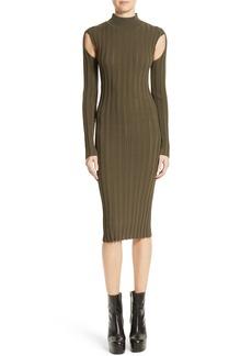 McQ Alexander McQueen Cutout Knit Dress