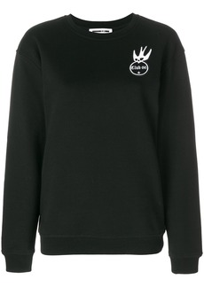McQ Alexander McQueen embroidered patch detail sweatshirt - Black