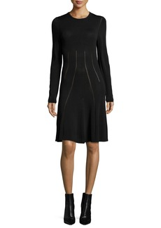 McQ Alexander McQueen Ergonomic Flirty Long-Sleeve Dress