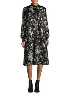 McQ Alexander McQueen Floral Front Bow Dress