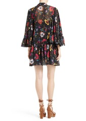 McQ Alexander McQueen Floral Print Shift Dress