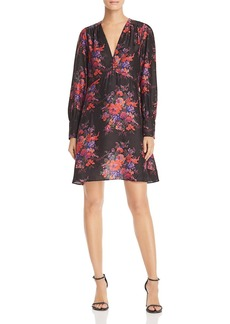 McQ Alexander McQueen Floral Silk Dress
