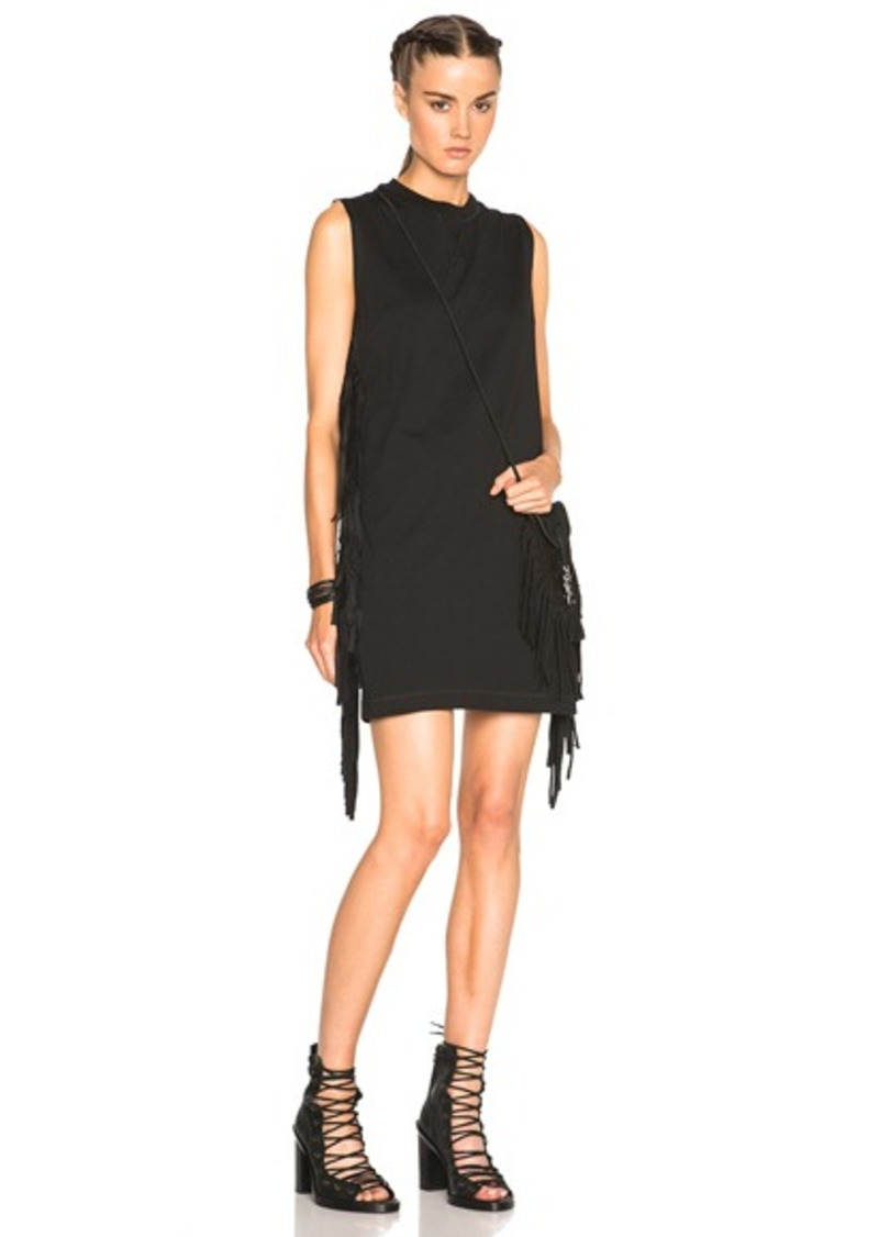 McQ Alexander McQueen Fringe Sleeve Dress