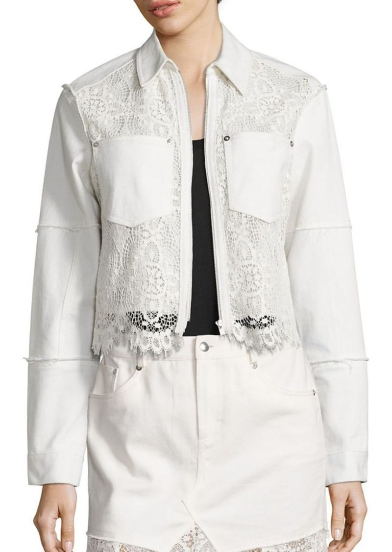 McQ Alexander McQueen Hybrid Lace Bomber Jacket