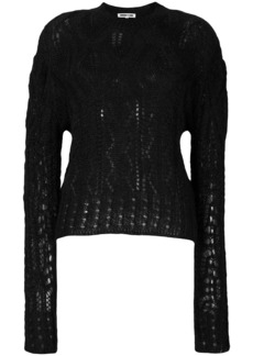 McQ Alexander McQueen knitted cable jumper - Black