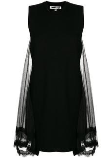 McQ Alexander McQueen lace back panel T-shirt dress - Black