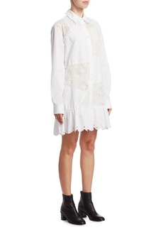 McQ Alexander McQueen Lace Button-Front Dress