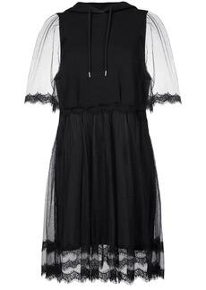 McQ Alexander McQueen lace hoodie dress - Black