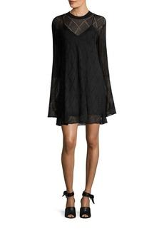 McQ Alexander McQueen Lace Bell-Sleeve Dress