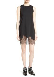 McQ Alexander McQueen Lace Trim Shift Dress
