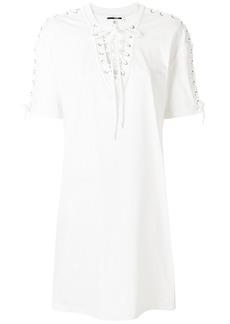 McQ Alexander McQueen lace-up detail dress - White