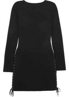 McQ Alexander McQueen Lace-up jersey mini dress