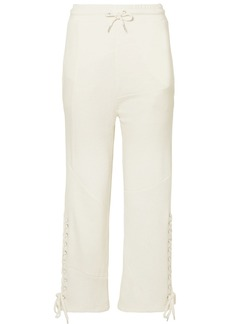 McQ Alexander McQueen Lace-up Knit-paneled Cotton Track Pants