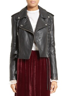 McQ Alexander McQueen Lace-Up Leather Jacket