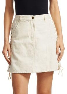 McQ Alexander McQueen Lace-Up Mini Skirt
