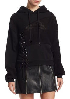 McQ Alexander McQueen Lace-Up Patch Hoodie