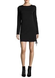 McQ Alexander McQueen Long-Sleeve Lace-Up Mini Dress
