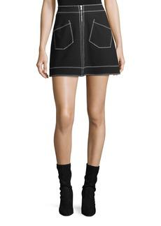 McQ Alexander McQueen Mini Skirt w/ Contrast Stitching