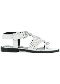 McQ Alexander McQueen Moon flat studded sandals - White