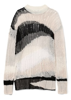 McQ Alexander McQueen Oversized distressed linen and cotton-blend sweater