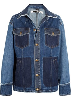 McQ Alexander McQueen Patchwork frayed denim jacket