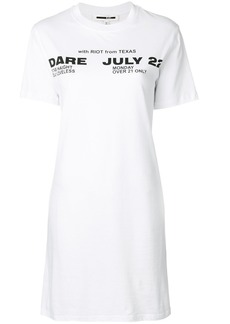 McQ Alexander McQueen Poison Youth tour date T-shirt dress - White