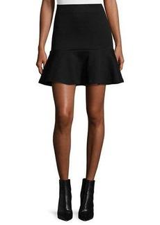 McQ Alexander McQueen Ponte Flounce Mini Skirt