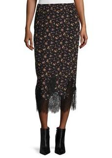 McQ Alexander McQueen Silk Jersey Midi Skirt