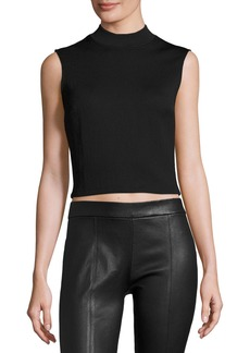 McQ Alexander McQueen Sleeveless Cropped Ponte Top