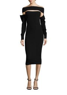 McQ Alexander McQueen Solid Off-the-Shoulder Dress