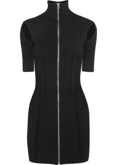 McQ Alexander McQueen Stretch-knit turtleneck mini dress