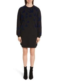 McQ Alexander McQueen Swallow Classic Sweatshirt Dress