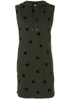 McQ Alexander McQueen swallow hooded sweat dress - Green