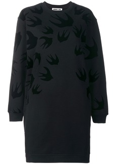 McQ Alexander McQueen swallow print sweatshirt dress