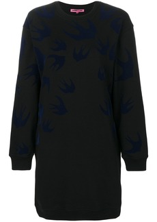 McQ Alexander McQueen swallow sweat dress - Black